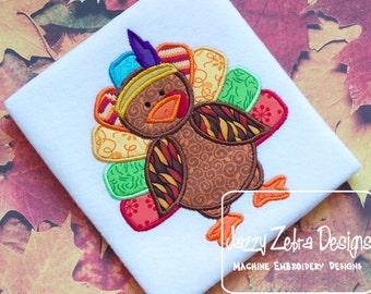 Turkey Indian Applique embroidery Design - Turkey Applique Design - Indian Applique Design - Thanksgiving Applique Design