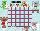 BUY 2 GET 1 FREE!!! Children's Reward Chart, Chore Chart, Potty Chart, Sticker Chart, Behavior Chart