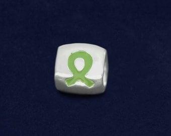Chunky Lime Green Ribbon Charm (RE-CHARM49-9A)