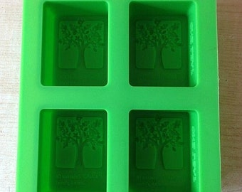 4-cavity Tree Cake Mold Mould Silicone Mold Biscuit Mold Chocolate Mold Soap Mold