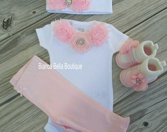Newborn Take Home Outfit Baby Girl Outfit Newborn Outfit Coming Home Outfit  Going Home Outfit Photo Prop Outfit Hospital Outfit