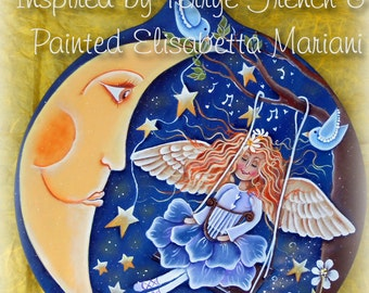 Moonlight - Painted by Elisabetta Mariani, Painting With Friends E Pattern