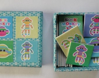memory game  funky sock monkey matching game