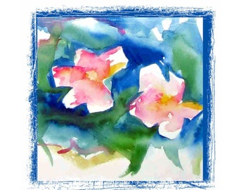Watercolor Floral Impression Greeting Card Set