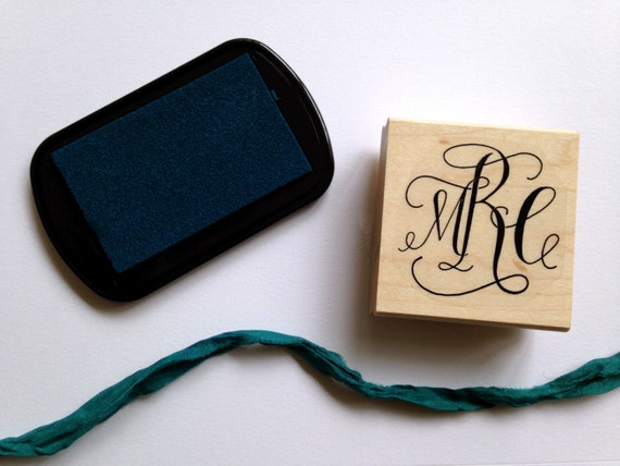 Custom Calligraphy Monogram Stamp