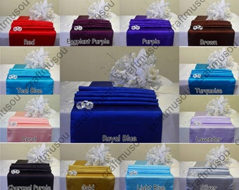 """12""""x108"""" Satin Table Runner For Wedding Party Banquet 20+ colors"""
