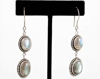 Labradorite 079 - Earrings - Sterling Silver