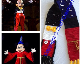 Fantasmic Traditional & Sorcerer Mickey inspired Scarf