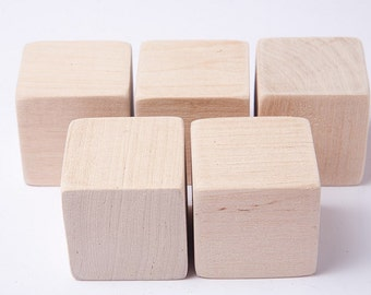 1 3 4 inch 4 5 cm unfinished wood blocks for wood crafts for Child craft wooden blocks