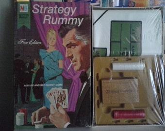 1968 Strategy Rummy Game by Milton Bradley NEW