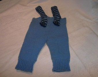 Knit pants with suspenders 56/62