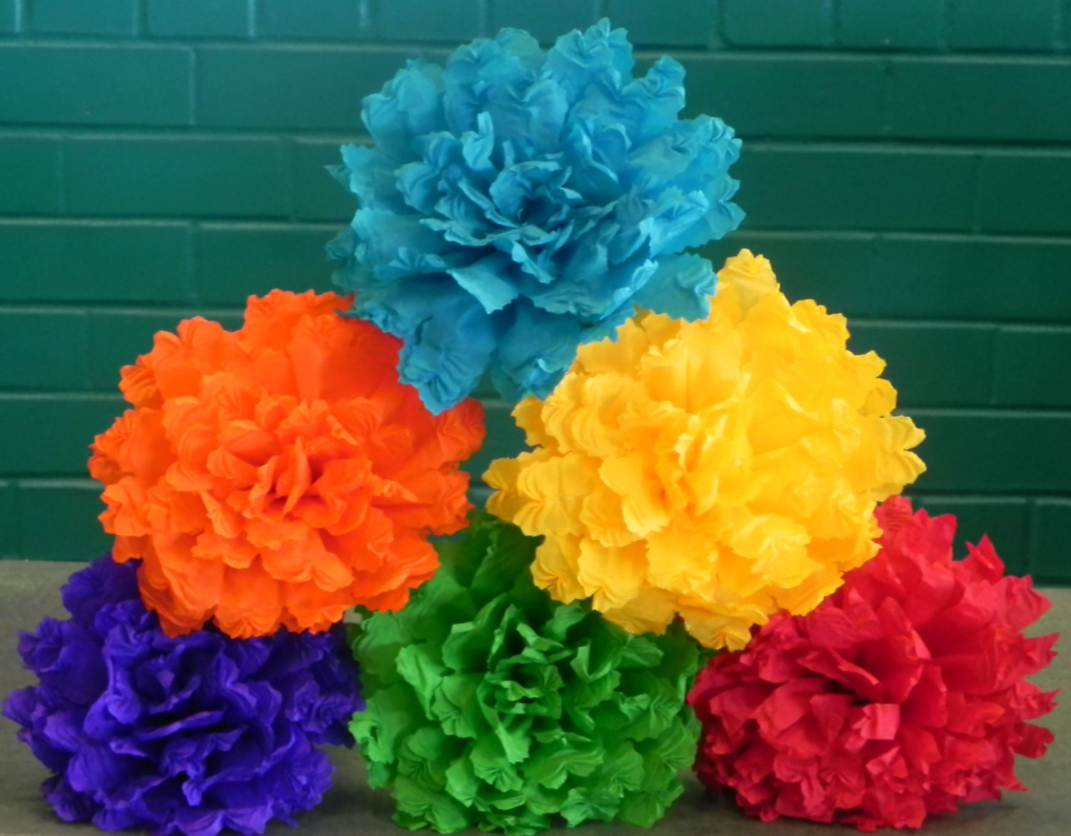 how to make mexican flowers from crepe paper