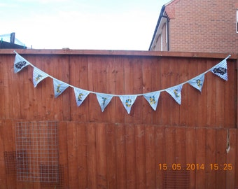 Handmade Fabric Name / Message Bunting