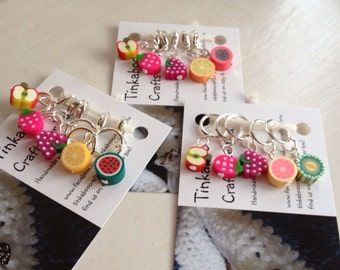 Fruity stitch markers