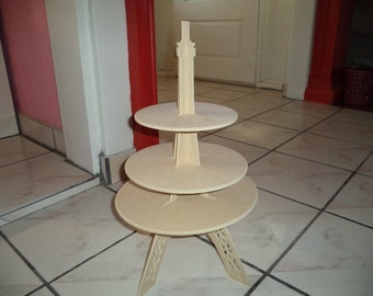 3 tier Cupcake stand eiffel tower