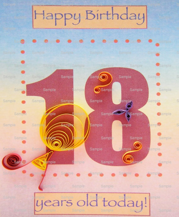 Edible Cake Decorations For 18th Birthday : Happy 18th Birthday Edible Cake and Cupcake Topper For