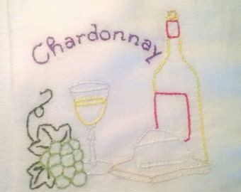 Wine Country pattern Chardonnay Free Shipping