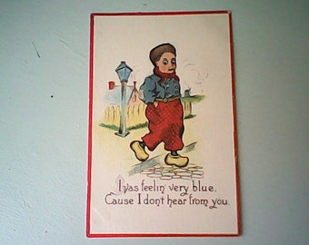 POSTCARD 1914  DUTCH  Kid Series Fun Romance