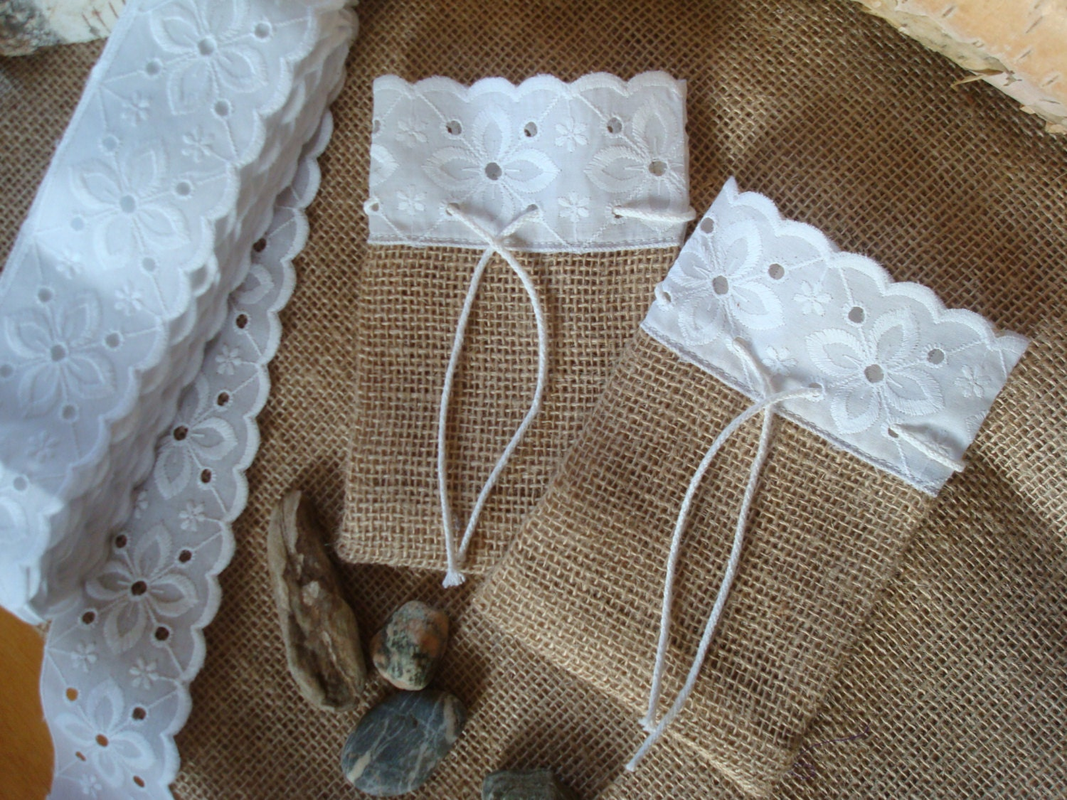 Small Wedding Gift Bags: Set Of 15 Rustic Wedding Burlap Gift Bags Small Size By