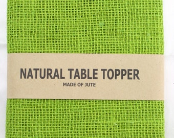 "Apple Green 52"" x 52""Burlap Table topper, Burlap Table Cloth for special events, rustic wedding theme, other colors are  available (BH-TS60)"