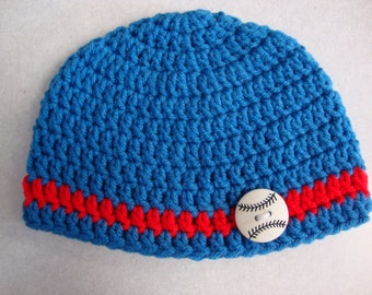 Newborn Baseball Beanie Photo Prop