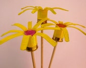 Shotgun Shell Yellow Flowers Set of 3