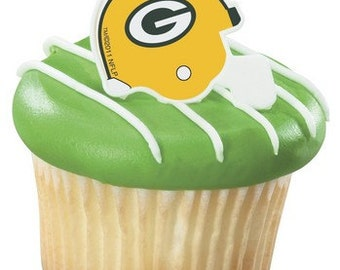 12 NFL Football Green Bay Packers CUPCAKE toppers birthday party favors tailgating & Game Day