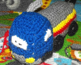 Soft Fuel Truck Crocheted Toy