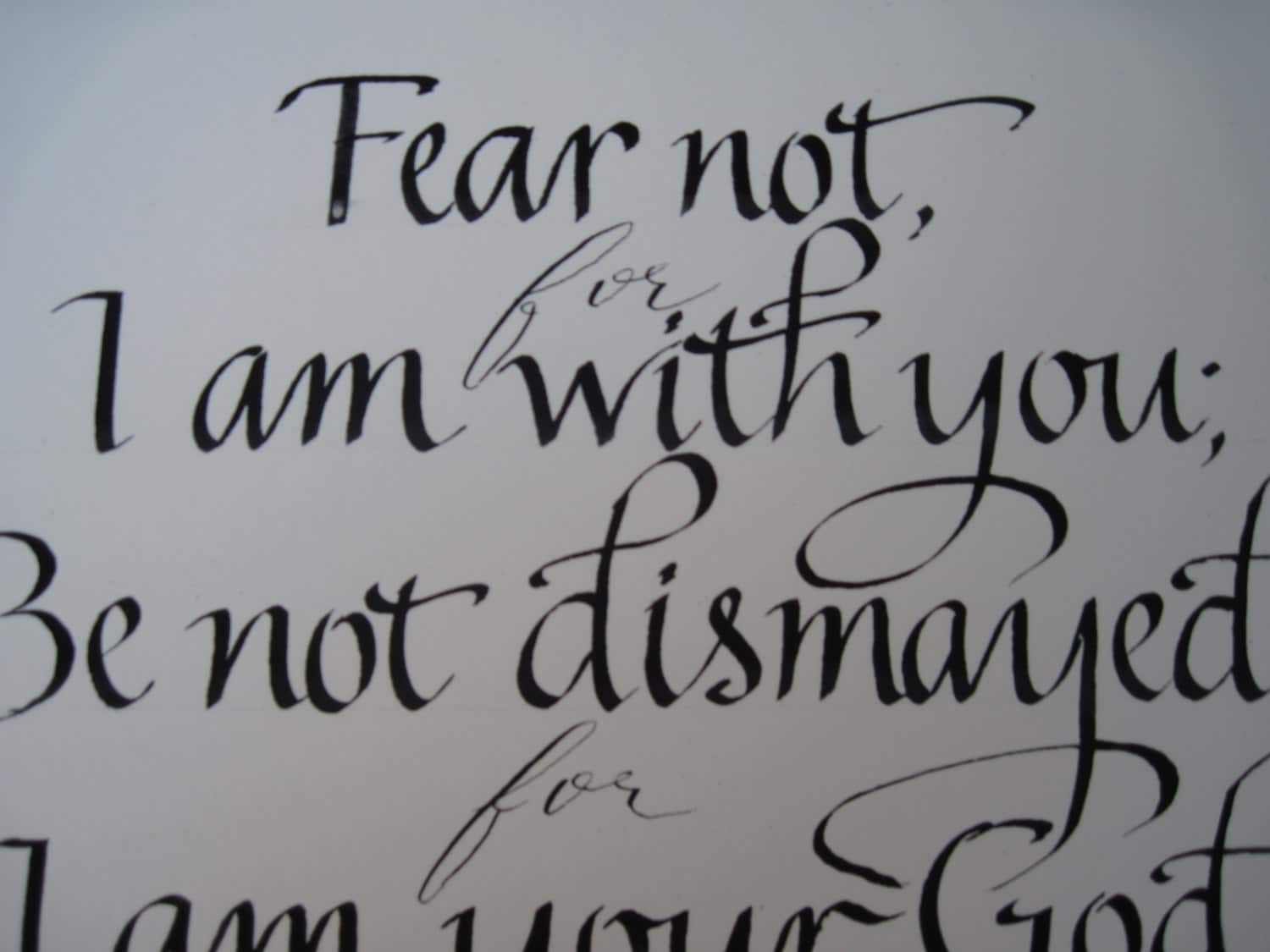 Scripture Art Bible Verse Hand Lettered Calligraphy Isaiah