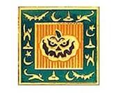 Jack-O-Lantern Sleepy Hollow Heavily Embossed Self-adhesive Sticker