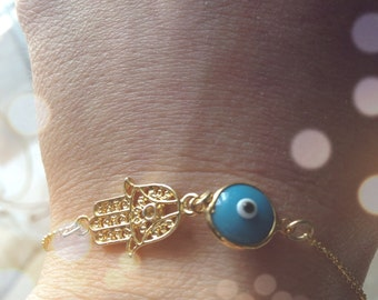 Bracelet with Fatima hand and Evil