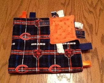 NFL - Chicago Bears Ribbon Blanket w/ Bear Logo