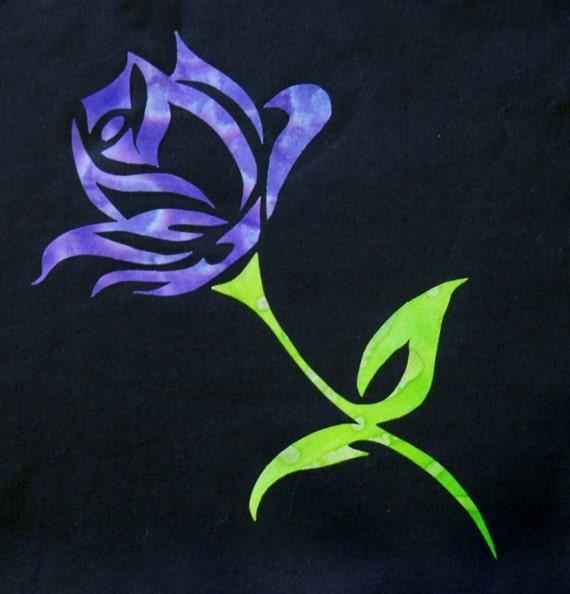 Easy Beautiful Elegant Rose 2 Flower Quilt Applique Pattern