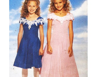 Butterick Sewing Pattern 4276 Girls Dress  Size:  7-8-10  Used