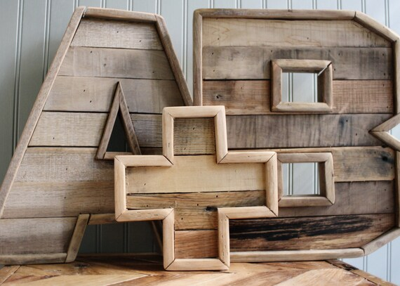 Pair of Original Reclaimed Wood Marquee Letters (A-Z) 16 inch with a plus  sign - Pair Of Original Reclaimed Wood Marquee Letters A-Z 16 Inch