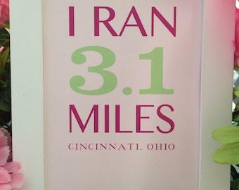 5k Race Finisher Framed Art inspired by Girls on the Run (GOTR)