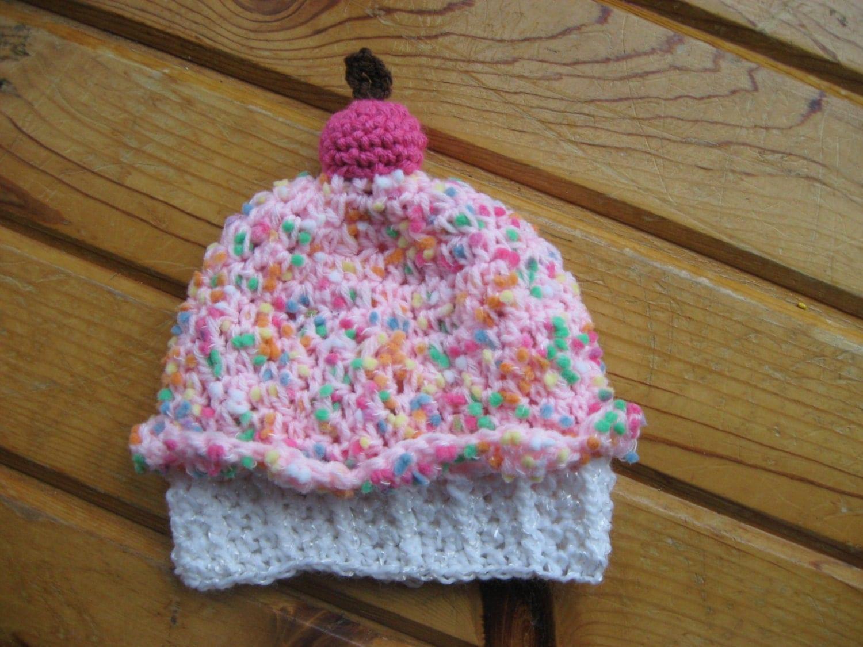 Crochet pattern for baby cupcake hat dancox for crochet cupcake hat crochet baby hat baby by pinkyscrochetshop bankloansurffo Images