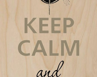 Keep Calm and Love Turtles - Plywood Wood Print Poster Wall Art WP - DF - 0226