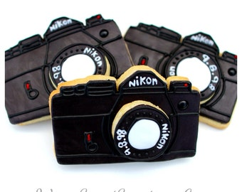 Half Dz. Camera Cookies! Photography Inspired, Birthday Parties and Baby Showers. Multiple Photos!!