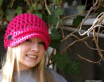 Harley Hat  newsboy brimmed hat for women/teen girl