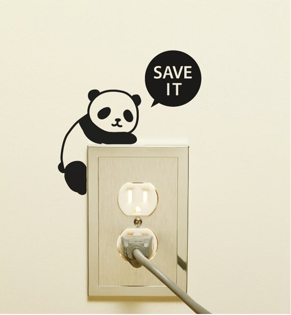4 light switch sticker wall decal sticker panda