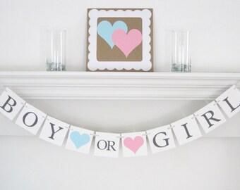 gender reveal banner, baby shower decorations, gender reveal party decoration, baby shower banner, baby shower party, Boy or Girl Banner