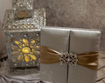 Wedding Invitation - Silver Silk Box Luxury - Couture Event Invitation - Custom Colors Available
