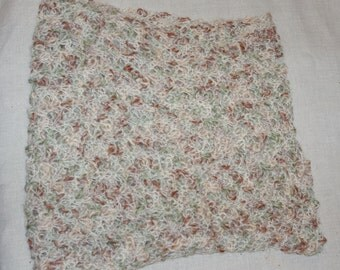 Funky lacey Tunisian crochet scarf/neckwarmer.