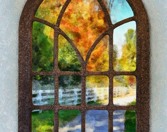 """Autumn View From Window 12"""" x 18"""" x 1 1/4"""""""