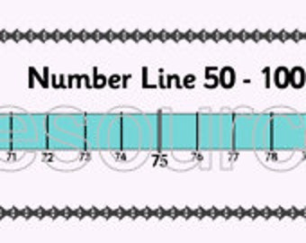 Number Line 50 to 100 Printable Maths Resource