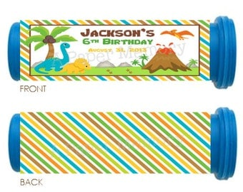Dinosaurs Mini M&M Tube Wrappers DIY Printable