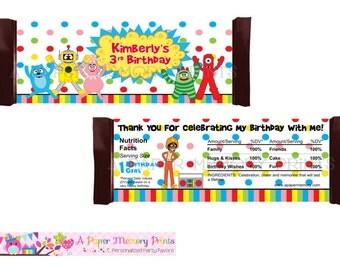 Yo Gabba Gabba Candy Wrapper - DIY Printable