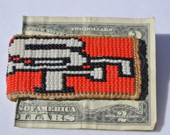 Native American Beaded Money Clip-SF 49ers Design