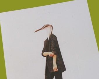 Sea Bird Fashion Collage Print (A5 Colour)